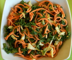 Sweet Potato-Kale Salad with Coconut-Lime Dressing